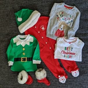 Carter's 9 months Christmas clothes